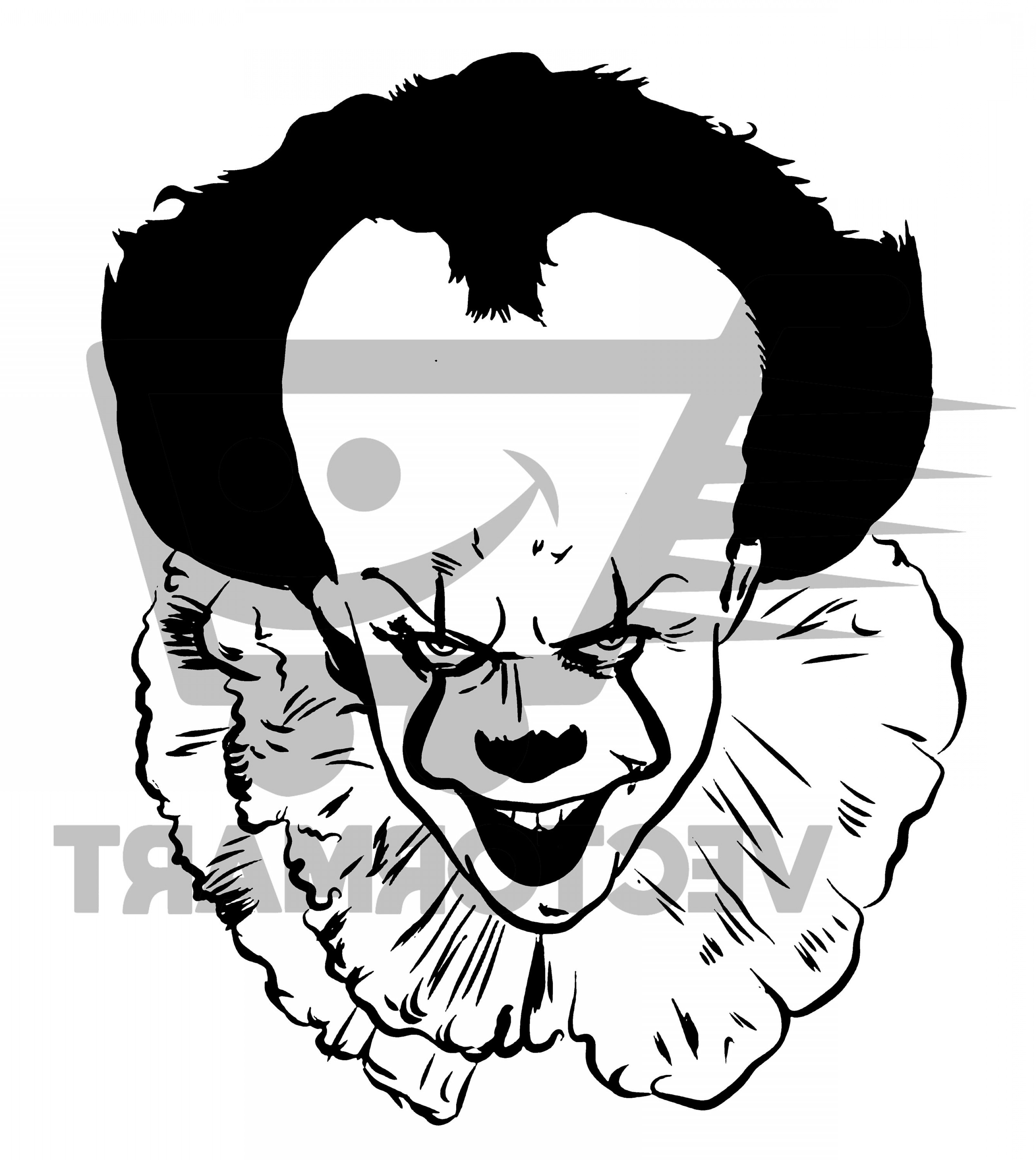 Pennywise svg vector.