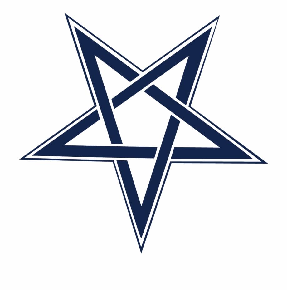 Inverted pentagram transparent.
