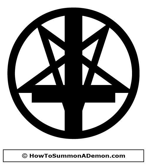 Pointdown pentagram with.