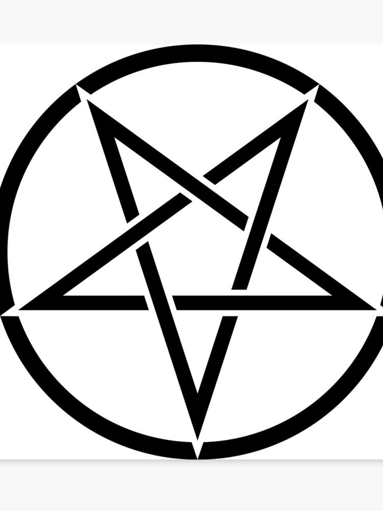 Upside down pentagram.