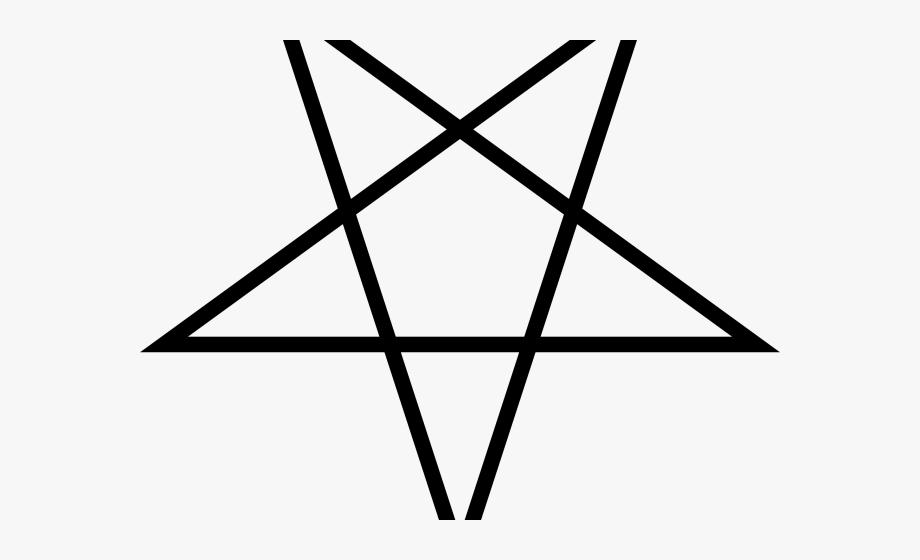 Pentagram clipart upside.