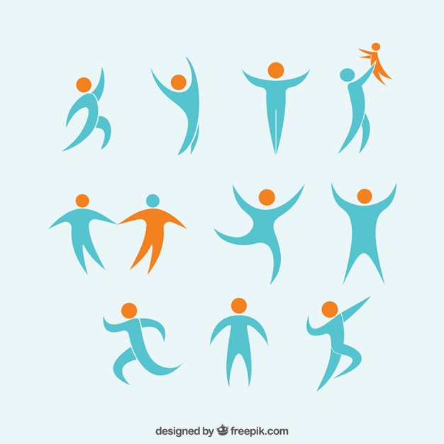 person clipart abstract