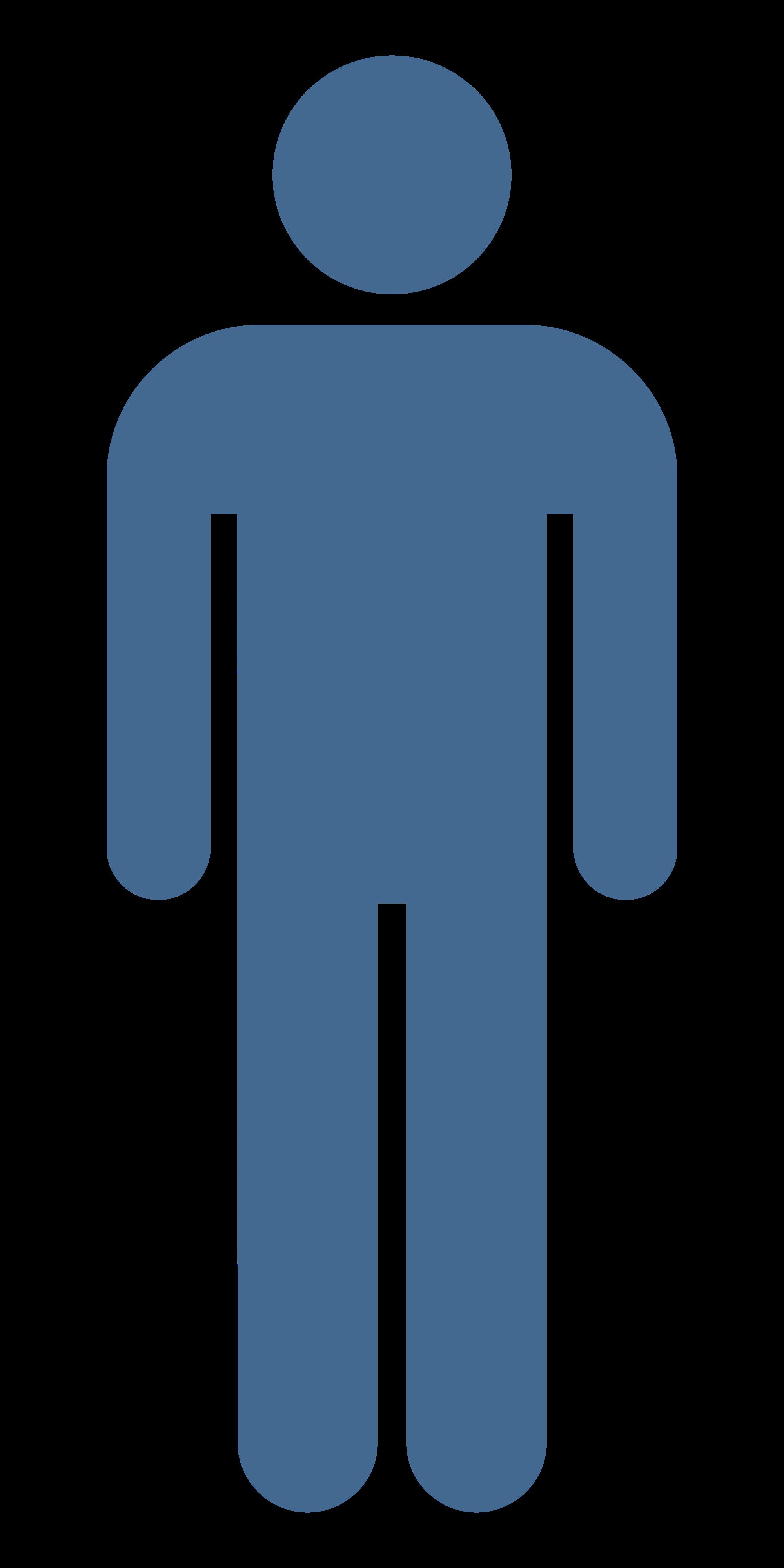 Blue person clipart.