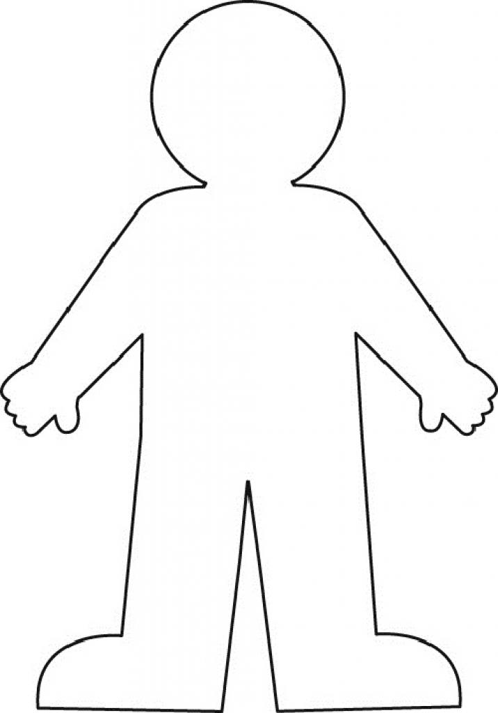Person outline clip.