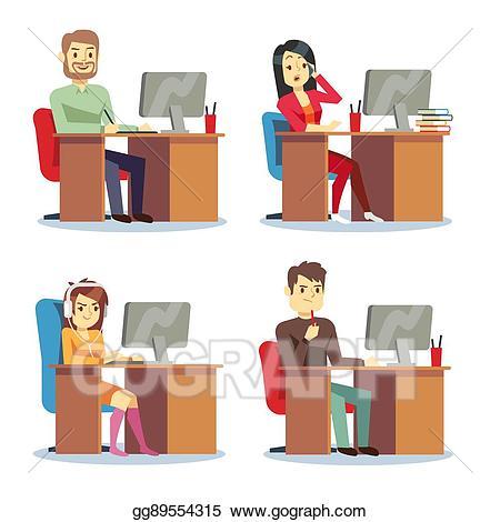 office clipart vector