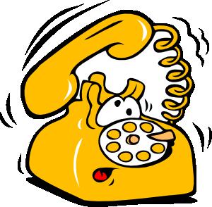 Cartoon telephone clipart.
