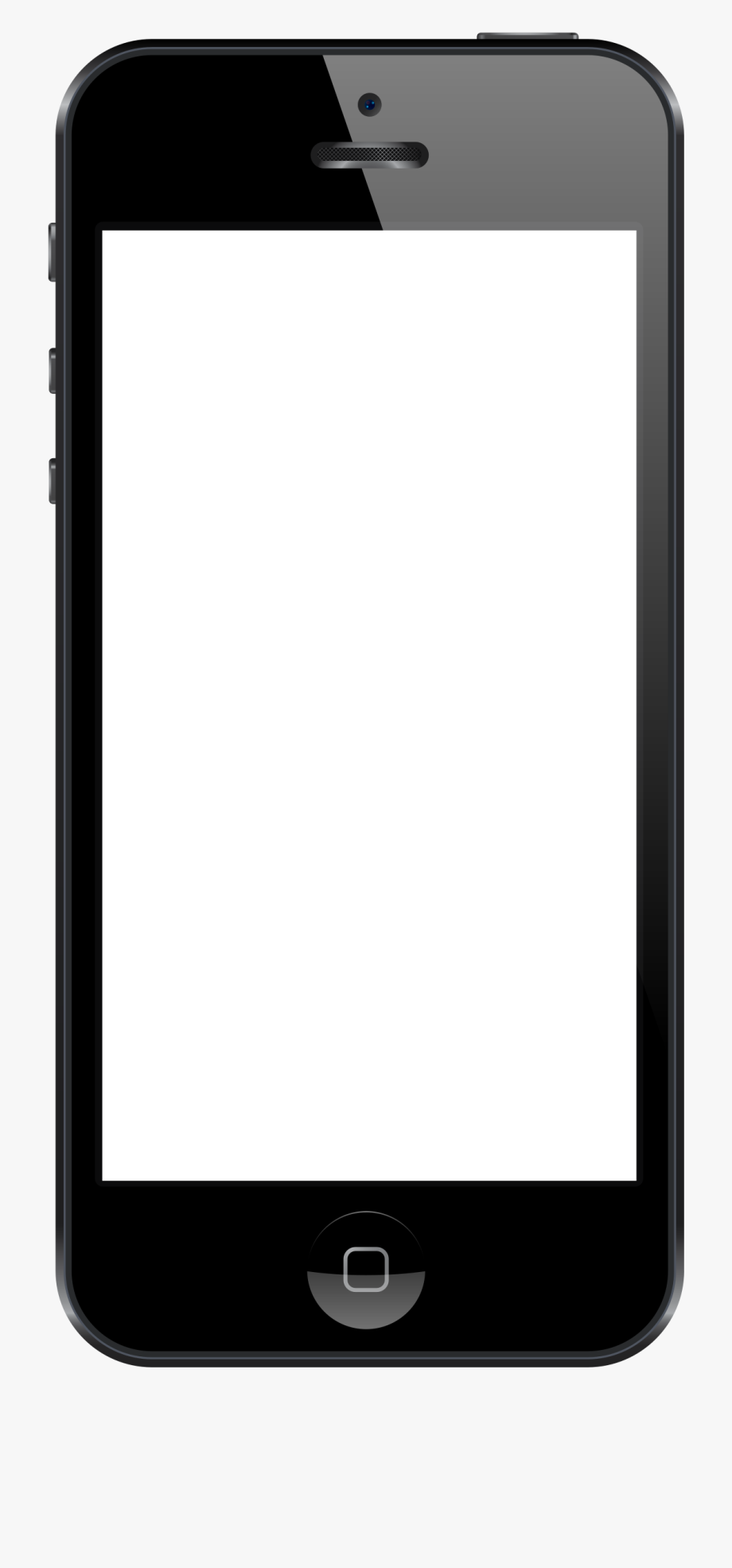 Iphone clipart blank.