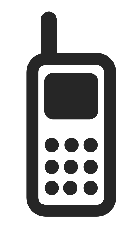 Free clipart mobilephone.
