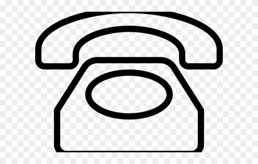 Telephone clipart outline.
