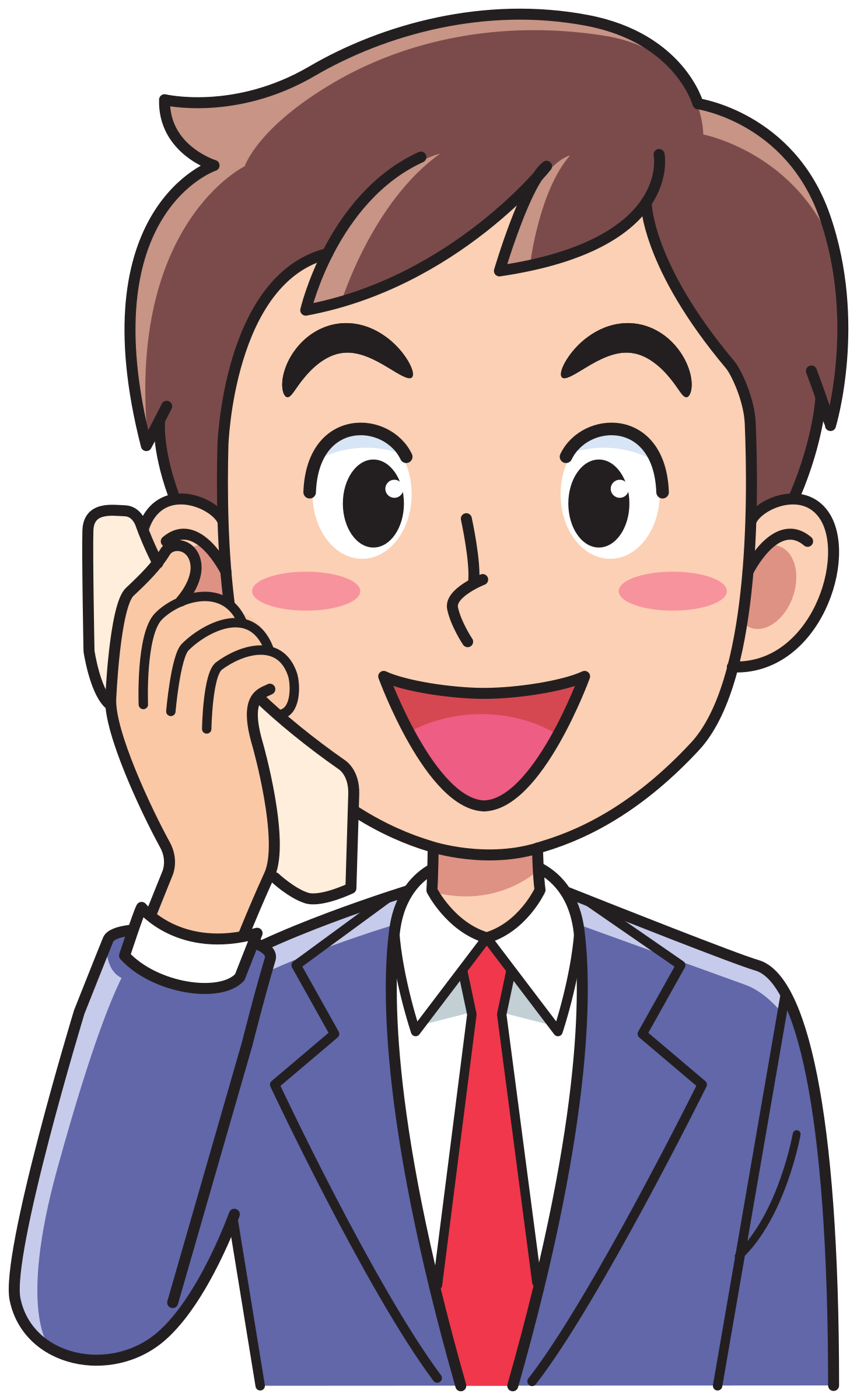 Phone clipart person.
