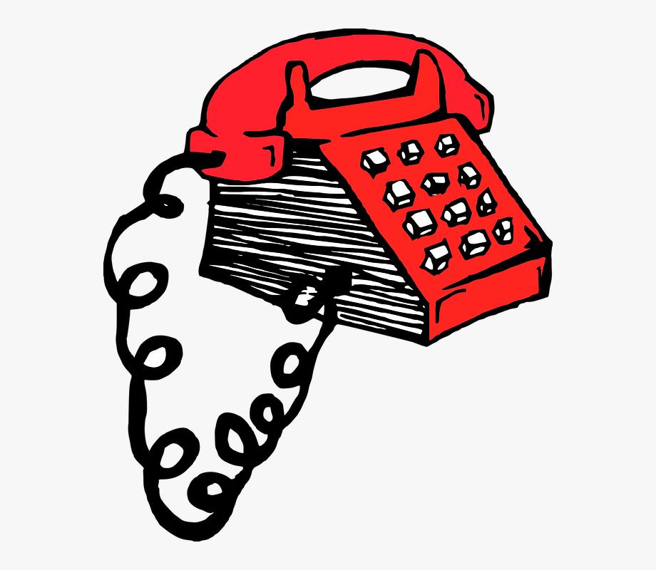 Phone retro red.
