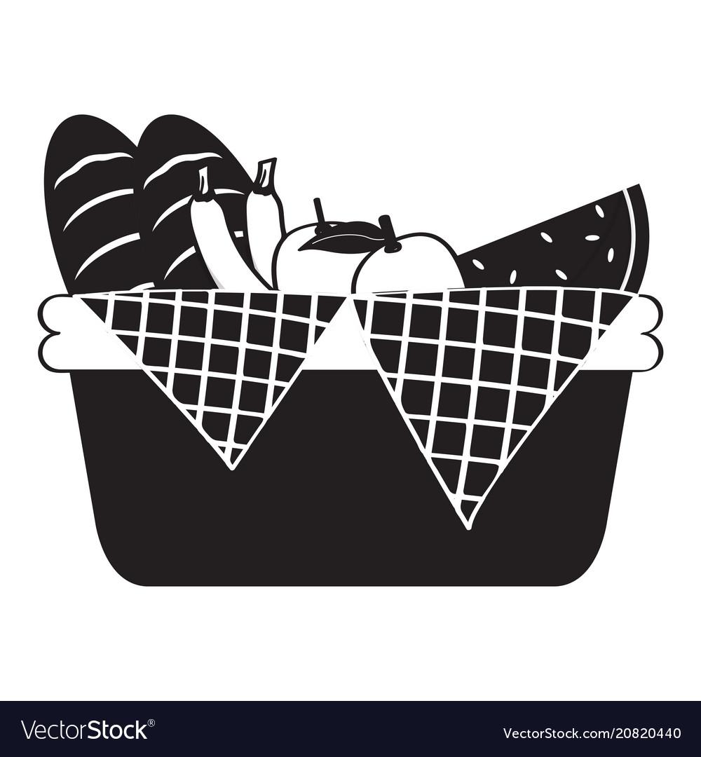 Picnic basket silhouette.