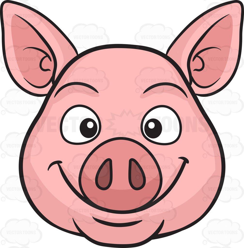 Pig face smiling.