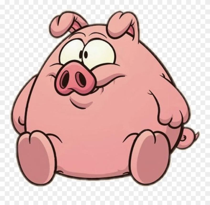 Pig sticker cartoon.