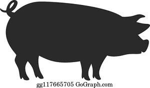 Pig silhouette clip.