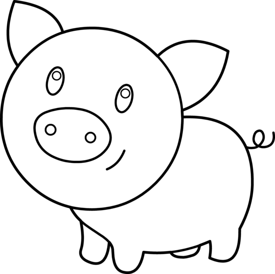 Pig Clipart by Hallow Graphics