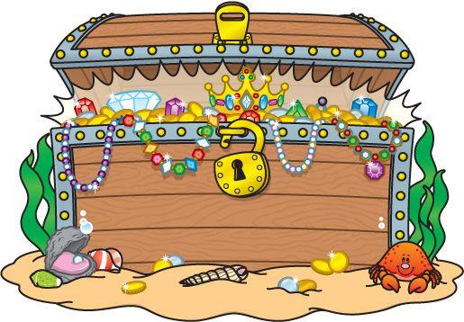 chest clipart treasure box
