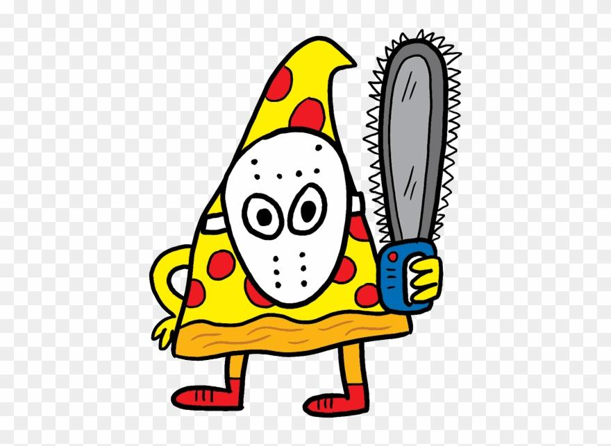Halloween pizza sticker.