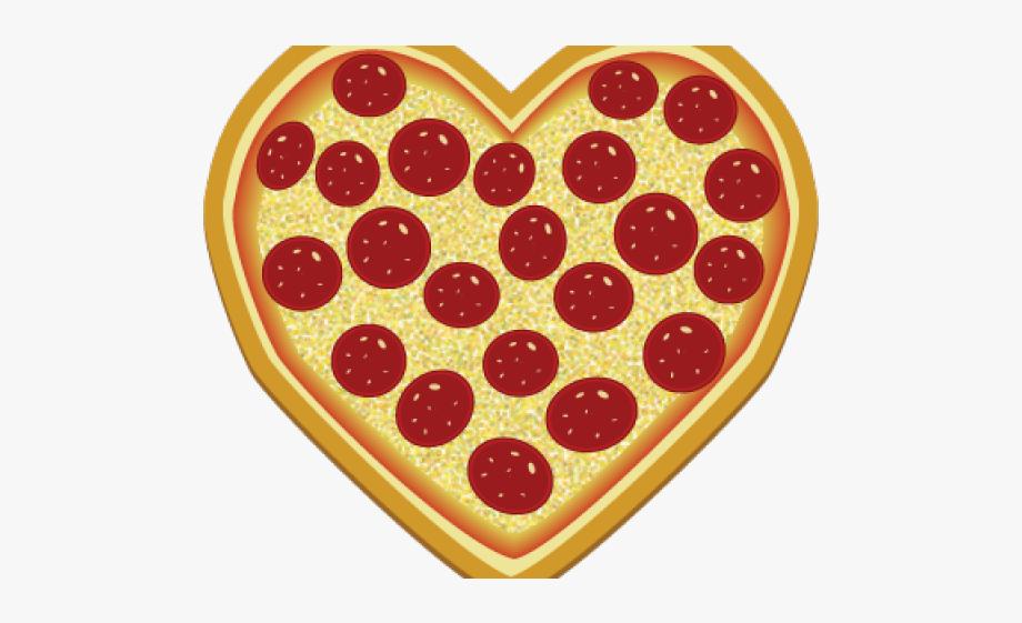 Pizza clipart heart.