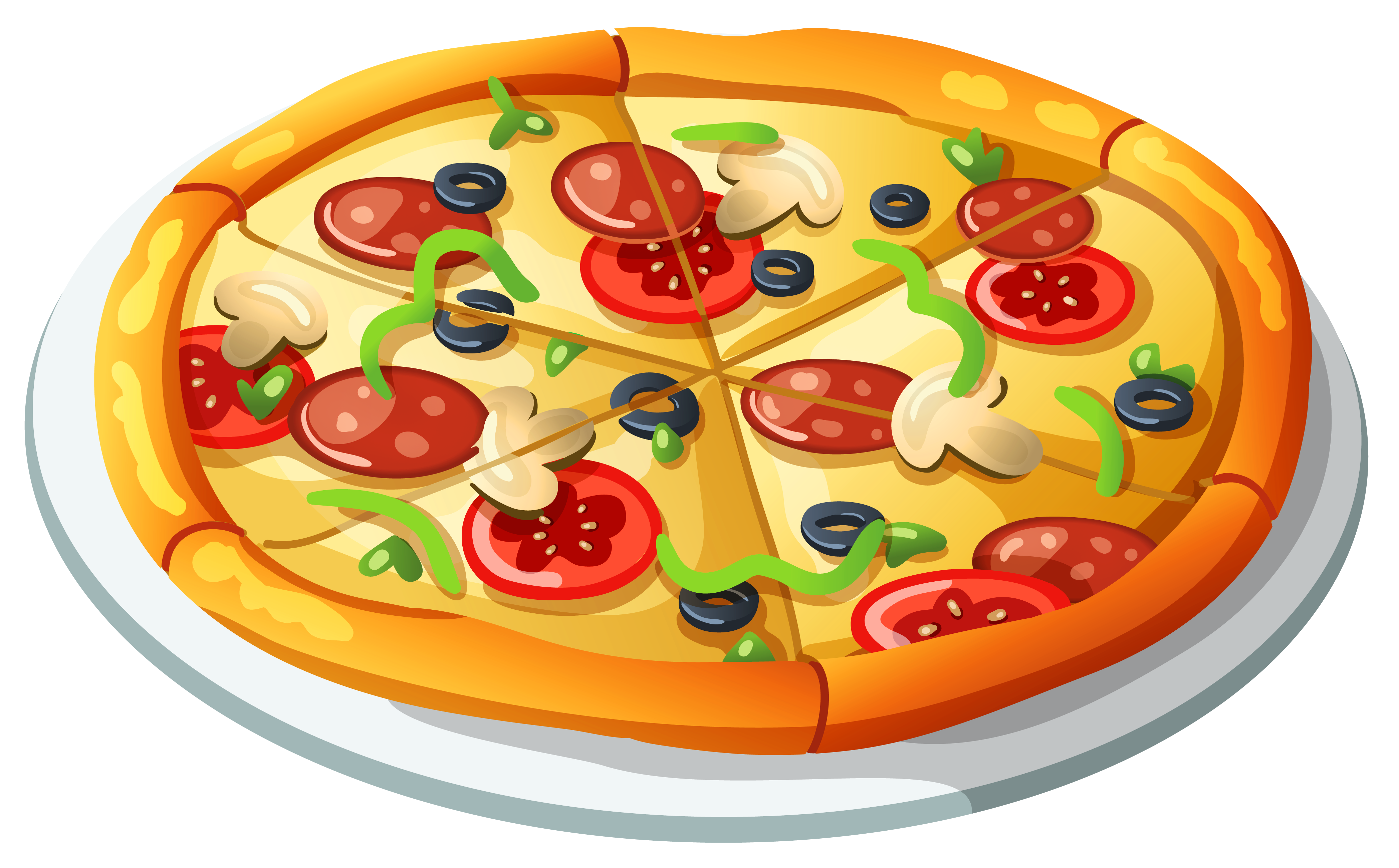 Pizza png vector.