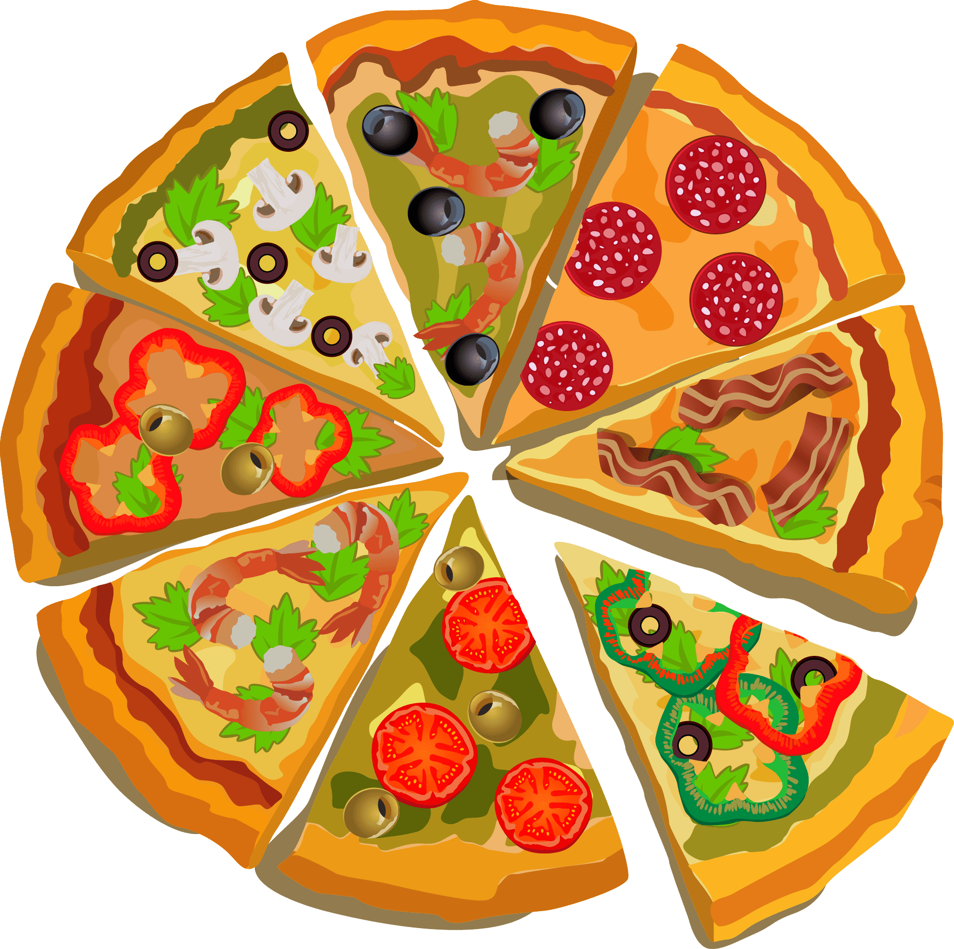 Pin pngsector pizza.