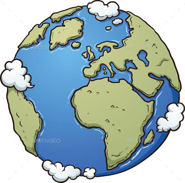 Cartoon earth vector.