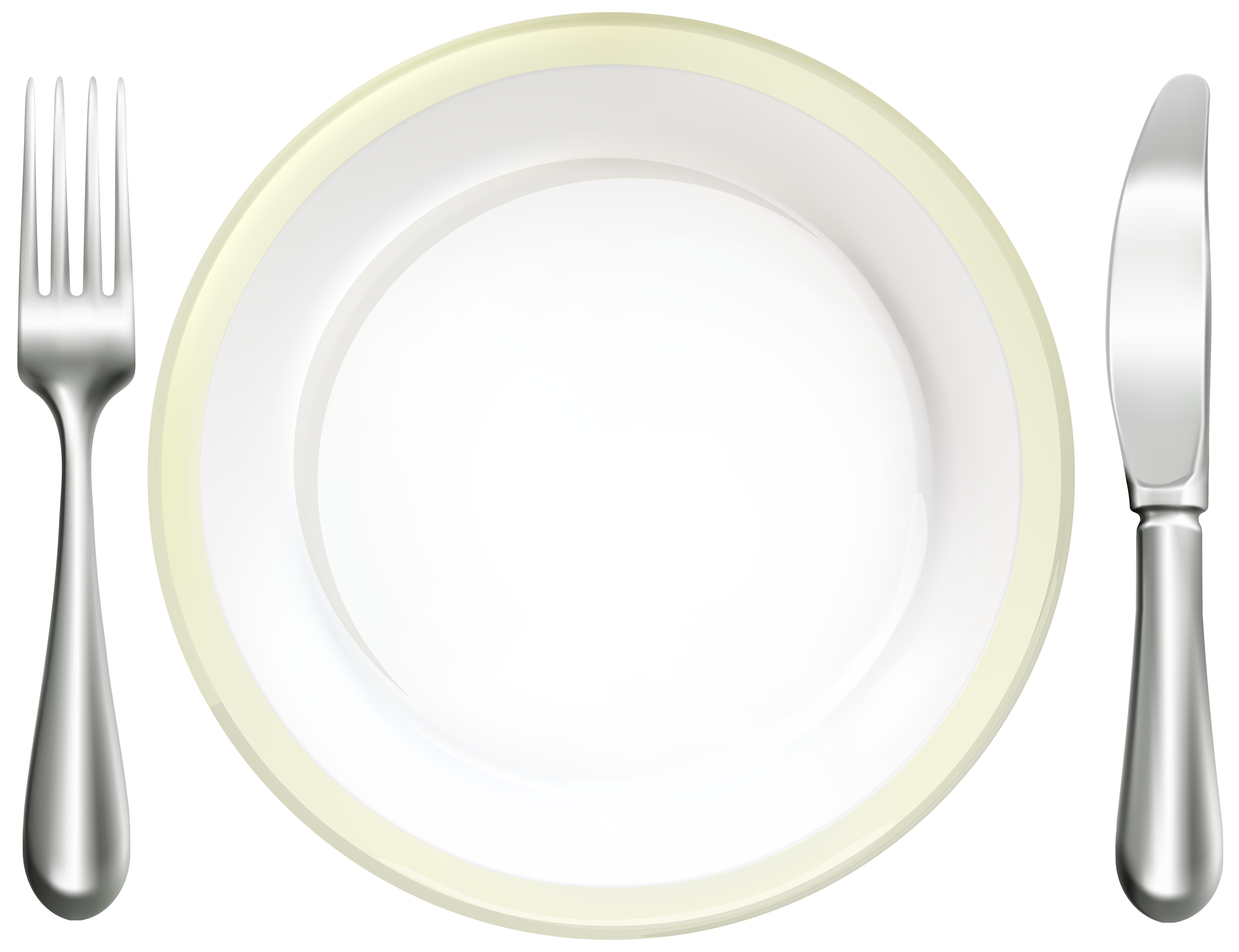 Plate clipart place setting, Plate place setting Transparent
