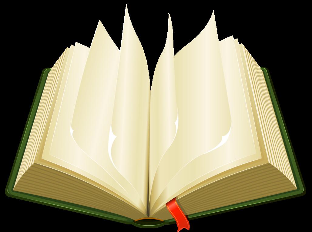 Open green book.