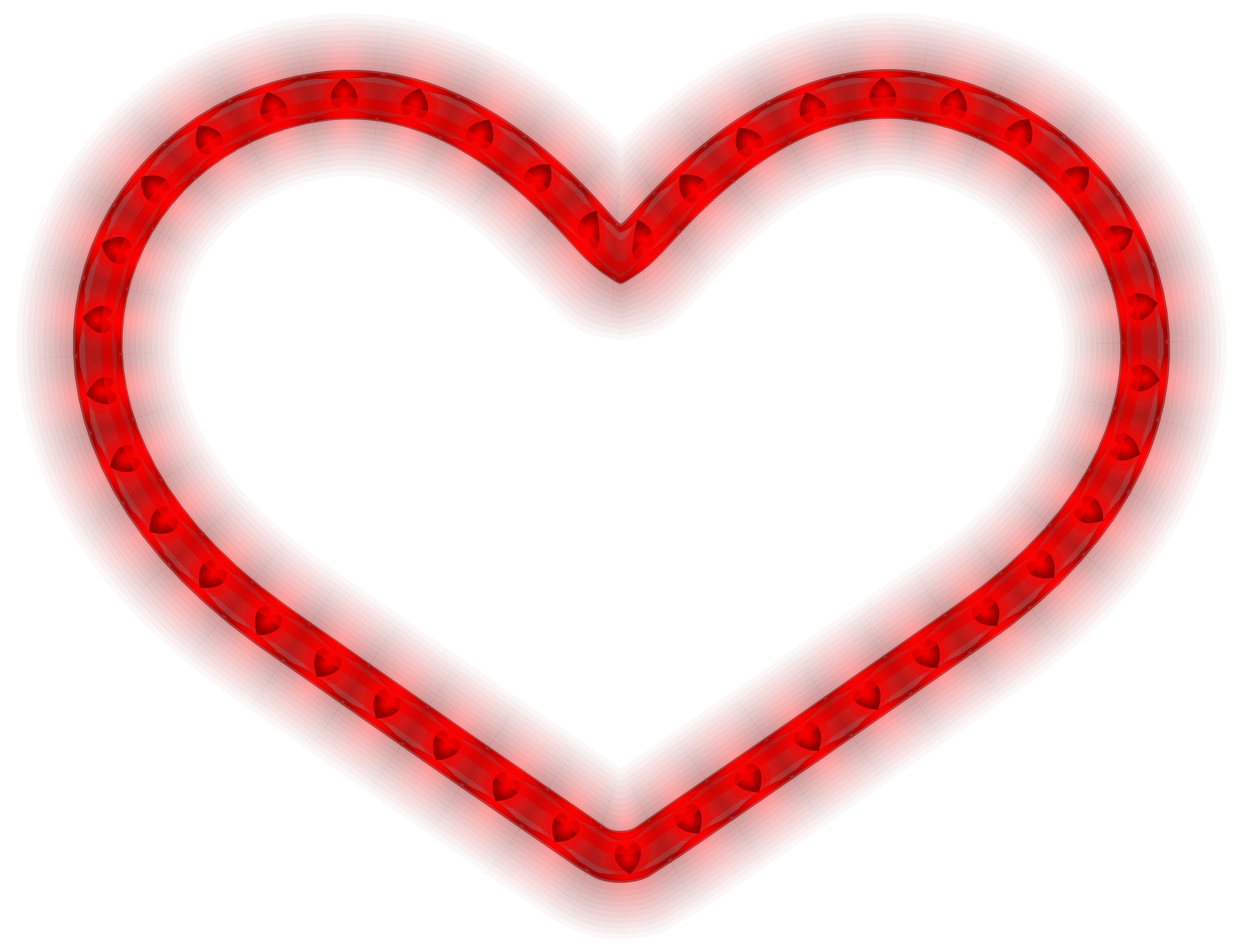 Glowing heart png.