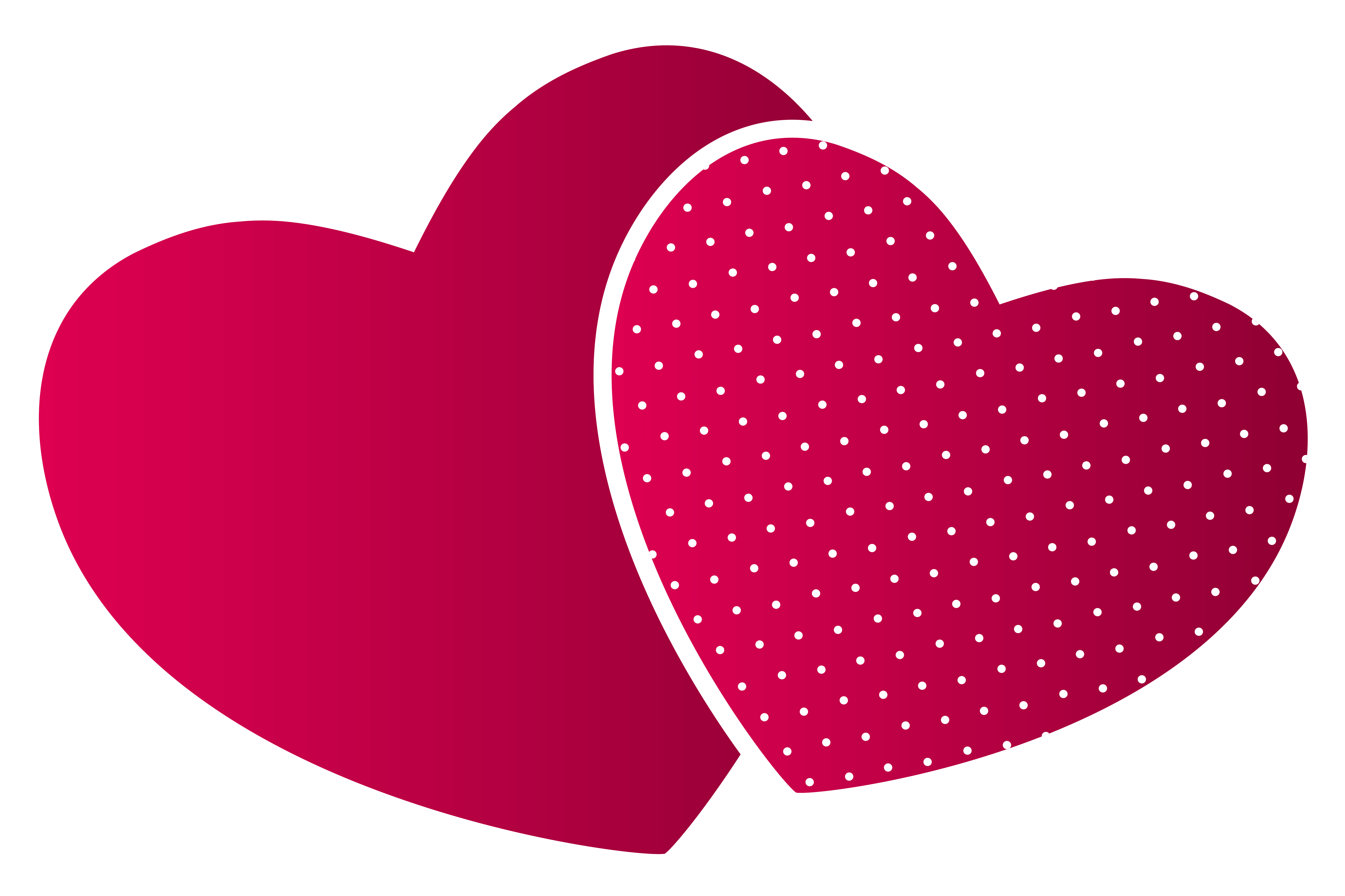Double hearts png.