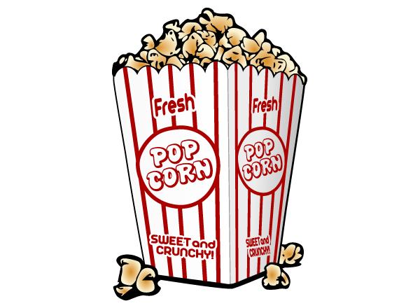 Free popcorn vector.