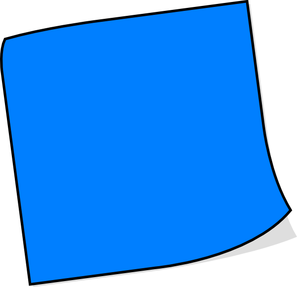 post it note clipart blue