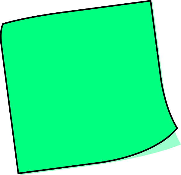 post it note clipart green