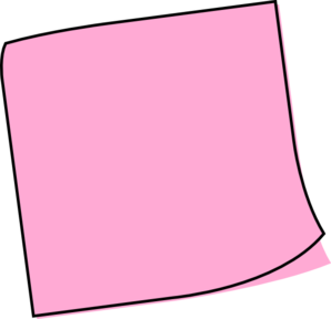 post it note clipart pink