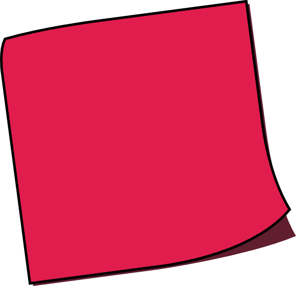 Red Pink Sticky Note transparent PNG