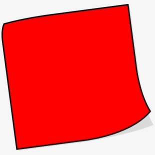 post it note clipart red