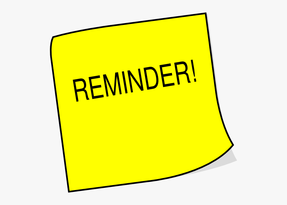 post it note clipart reminder