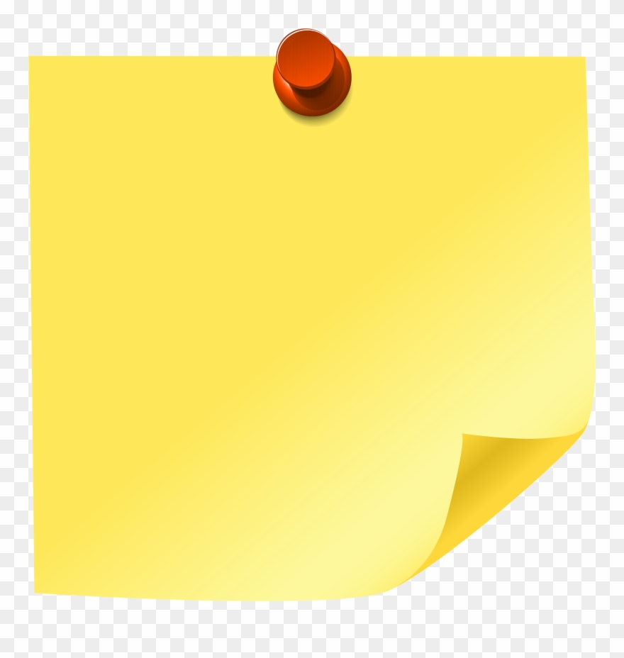 post it note clipart yellow