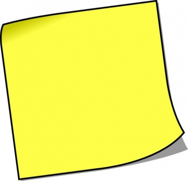 post it note clipart colorful