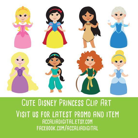 princess clipart cartoon