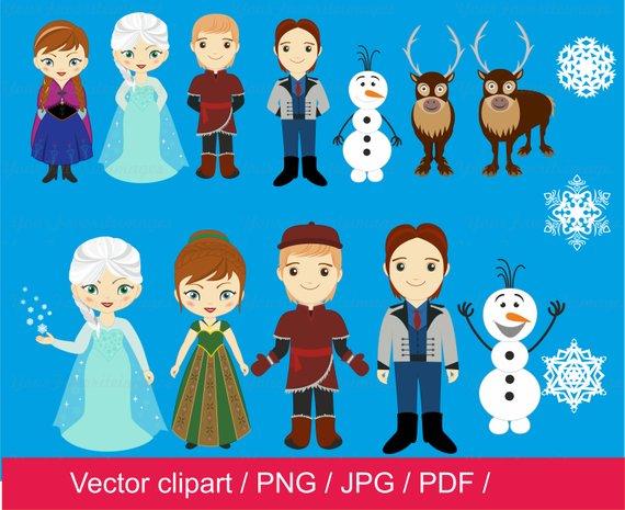 frozen clipart cartoon