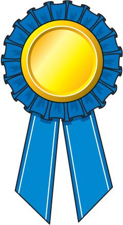 Prize ribbon clip.
