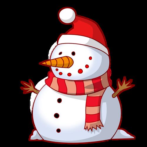 Vector image snowman.