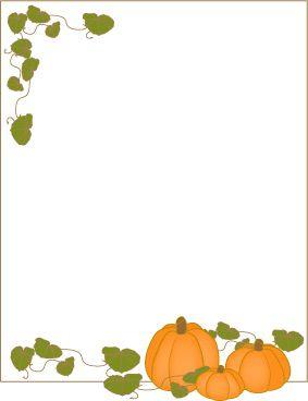 Pumpkin frame border.