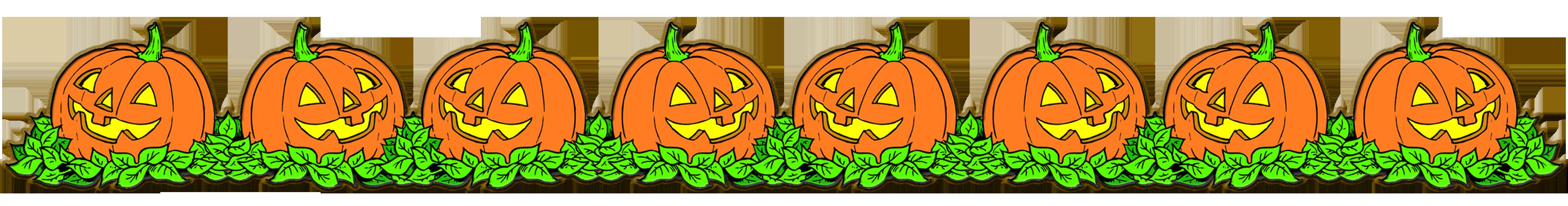 Free pumpkin borders.
