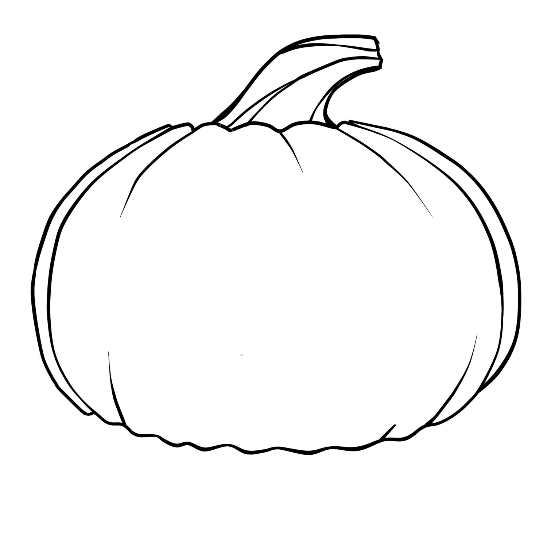 Pumpkins printable clipart.