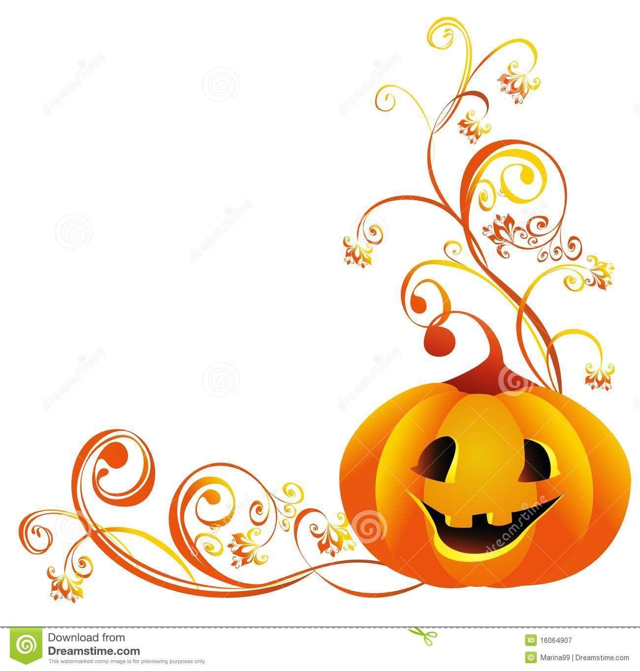 Halloween pumpkin corner.
