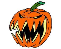 Scary pumpkin clipart image