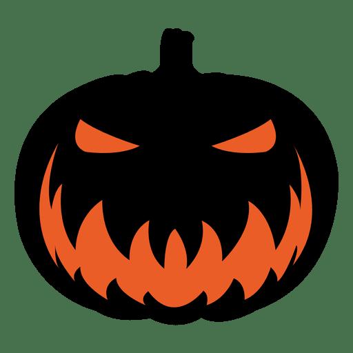 Scary pumpkin face.