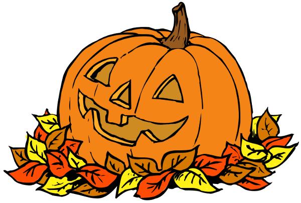 October pumpkins clipart.